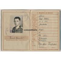 6.Pz.Div. Panzeraufklärer Wehrpass, KIA May 1945, 9 awards