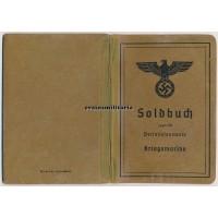 Soldbuch Marineartillerie France 1940 WIA
