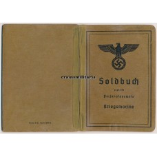 Soldbuch Marineartillerie France 1940 WIA