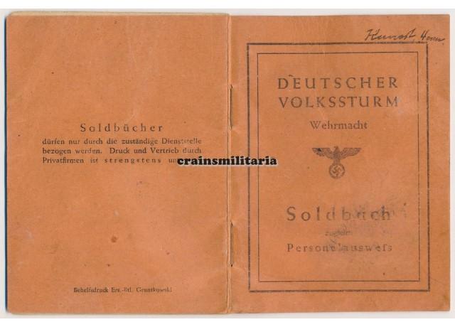 Volkssturm Soldbuch KIA Festung Breslau