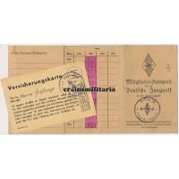 Deutsche Jungvolk DJ Mitglieds-Ausweis