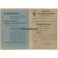 Reichskriegerbund Mitgliedsbuch