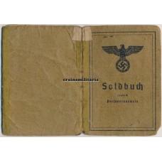 France 1944 POW Soldbuch Sich.Rgt.198