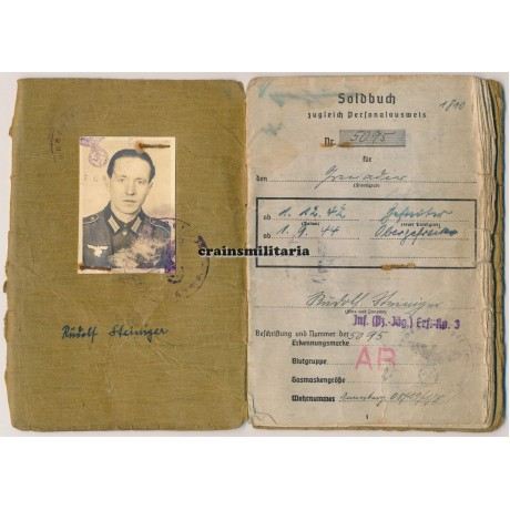 Battle of Berlin Soldbuch 156.ID
