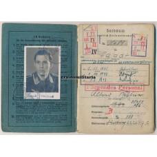 SS Panzer Totenkopf Soldbuch, Italy pilot