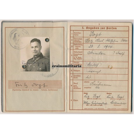 France 1940 KIA Officer Wehrpass grouping