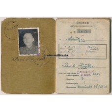 347.ID Soldbuch, Ijmuiden Holland, France 1944 POW