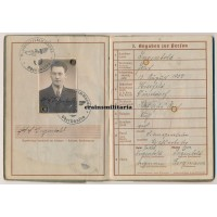 215.ID Aufklärer Wehrpass - Latvia 1944