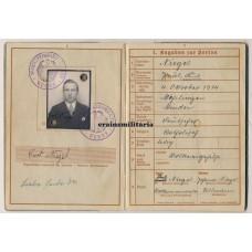 SS Polizei KIA Wehrpass, Leningrad