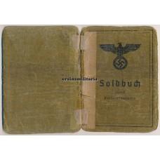 Soldbuch Kriegsverwaltungsinspektor Italy