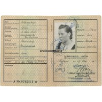Ausländer Ausweis to girl in Oflag VII-A