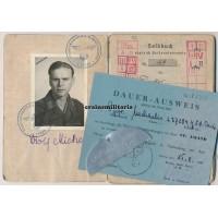 Paris 1944 KIA Soldbuch with half dogtag