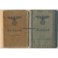 2.PD Panzer-Aufklärer Ardennes Soldbuch & Wehrpass