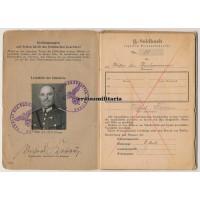 SS Soldbuch Gendarmerie KIA Poland 1945