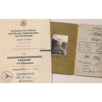 Driver Soldbuch grouping with Eduard Wagner signed KVK2