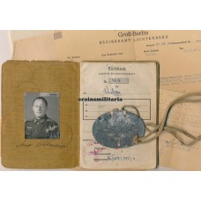 Panzerjäger Soldbuch grouping, dogtag, Hornisse unit