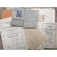 Wehrpass and (award) documents Stabsfeldwebel, Polizei, Sports