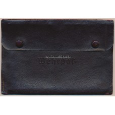 Leather Wehrpass pouch