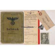 KIA Soldbuch 294.ID with Verwundetenzettel