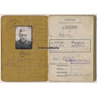 344.ID Soldbuch, Aachen 1944 WIA