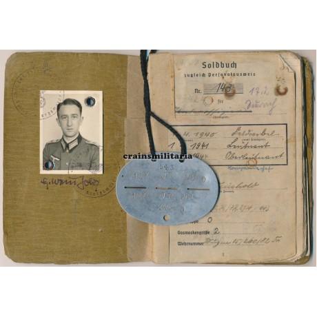 EKI Officer Soldbuch 94.ID, WIA France 1940