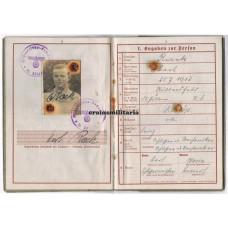 Wehrpass 4.lei.Div. Poland 1939, 161.ID