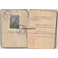 Reichswetterdienst officer Soldbuch - France, Holland, Berlin