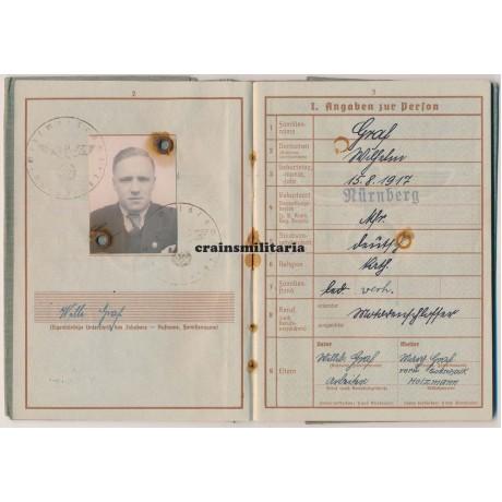 15.Pz.Gren.Div. Wehrpass, Stalingrad, Sicily & Italy WIA