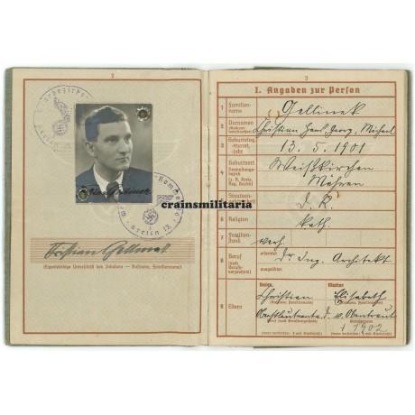 Artillery officer Wehrpass, EKI, Krimschild