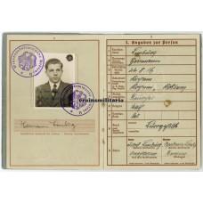 Hermann Göring Fallschirmjäger Wehrpass KIA Sicily 1943