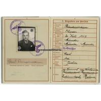 KIA Panzerpionier Wehrpass 20.Pz.Div., Belgium 1940