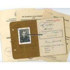 Soldbuch & award docs Ski-Bataillon 68.ID, Berlin 1945
