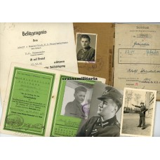 Soldbuch grouping 292.ID, wounded with HJ Feuerwehr