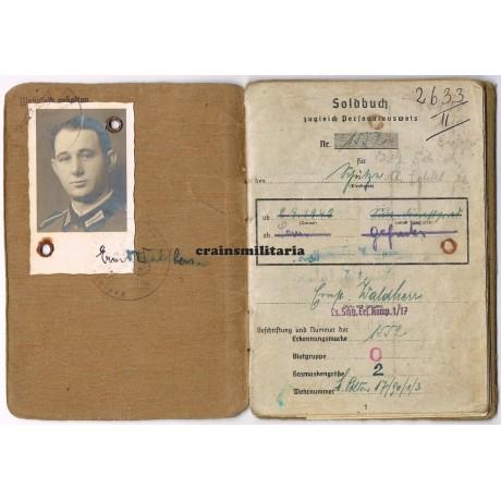 9.Pz.Div. WIA Soldbuch with Nahkampftage