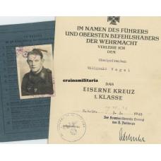 Soldbuch & award docs Flakscharfschütze
