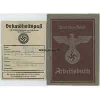 Arbeitsbuch & NSDAP Gesundheitspass to Pflichtjahr girl