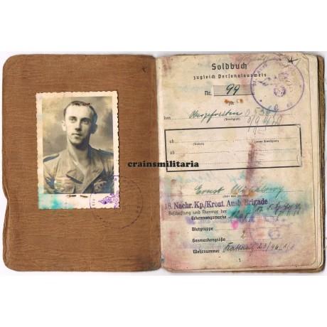 369.ID Croatian Soldbuch, Anti-partisan Yugoslavia