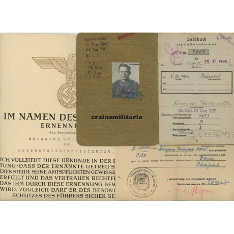 544.VGD Soldbuch grouping, Reichspost promotion