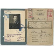 Luftwaffe Soldbuch France 1944