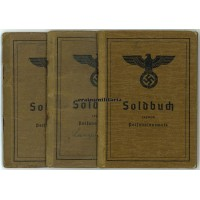 3 Soldbucher to 1 soldier - WIA France 1940