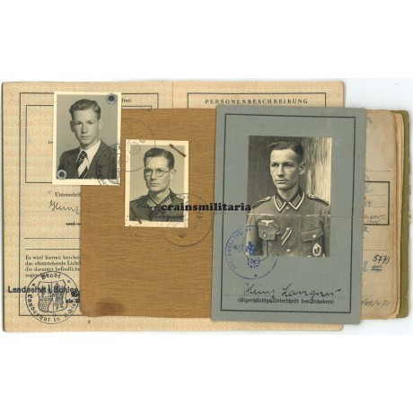 EK1 Jäger officer Soldbuch grouping