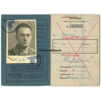 Fallschirmjäger Soldbuch, died Holland 1945