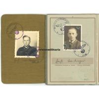 77.ID Normandy WIA Soldbuch & Wehrpass