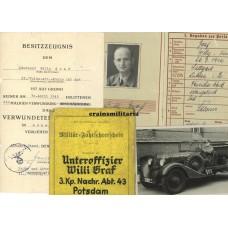 Berlin WIA officer Wehrpass grouping, Ardennes