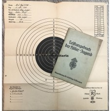 HJ Leistungsbuch with shooting target