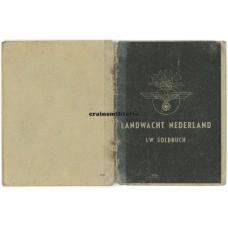 Landwacht Nederland Soldbuch - Holland collaboration