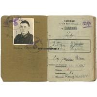 76.ID Soldbuch & Citation - WIA Hungary 1944