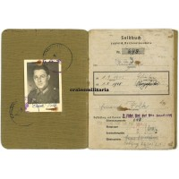 346.ID Soldbuch - Normandy, Belgium, Holland