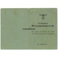 Vorläufiger Personalausweis - Luxemburg