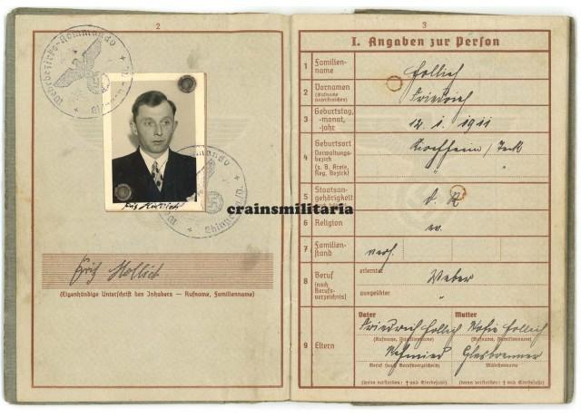 10.Pz.Div. Wehrpass - WIA Russia 1941